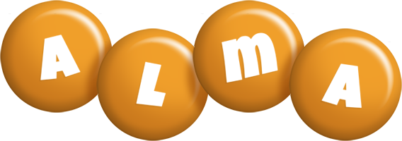 Alma candy-orange logo