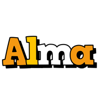 Alma cartoon logo
