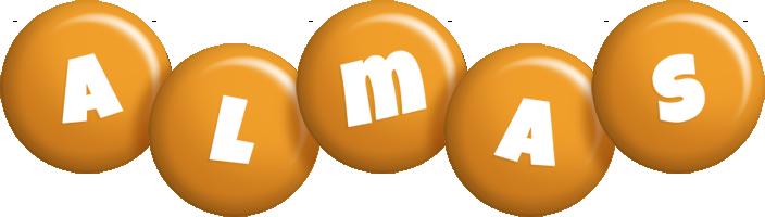 Almas candy-orange logo