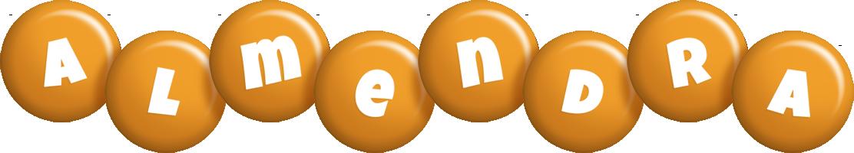 Almendra candy-orange logo