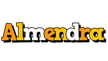 Almendra cartoon logo
