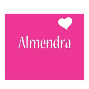 Almendra love-heart logo