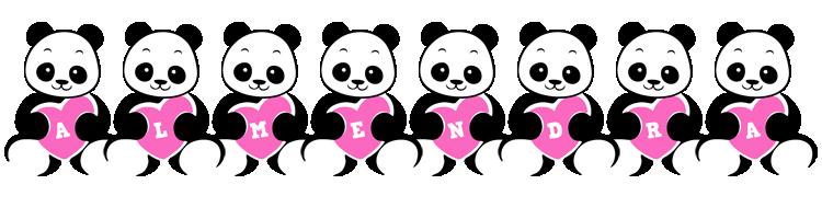 Almendra love-panda logo