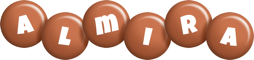 Almira candy-brown logo