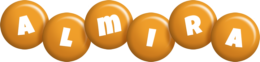 Almira candy-orange logo