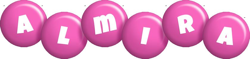 Almira candy-pink logo