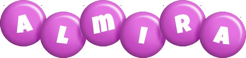 Almira candy-purple logo