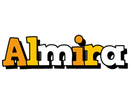 Almira cartoon logo
