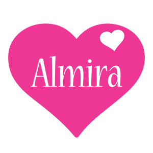 Almira love-heart logo