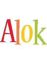 Alok birthday logo