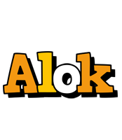 Alok cartoon logo