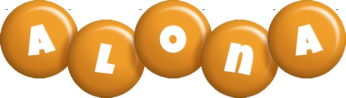 Alona candy-orange logo