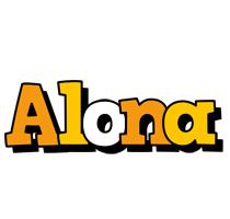 Alona cartoon logo