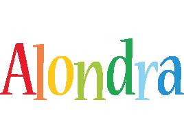 Alondra birthday logo