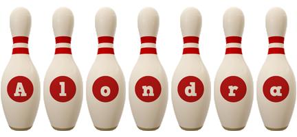 Alondra bowling-pin logo