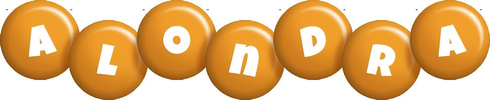 Alondra candy-orange logo