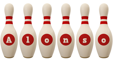Alonso bowling-pin logo