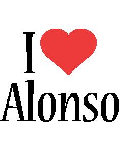 Alonso i-love logo