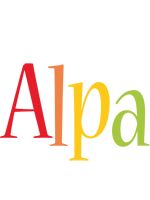 Alpa birthday logo