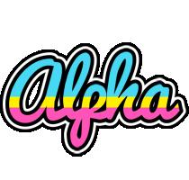 Alpha circus logo