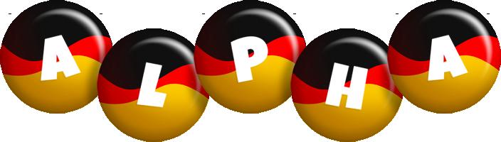 Alpha german logo