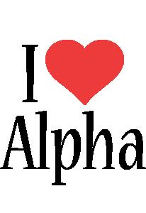 Alpha i-love logo