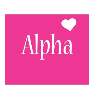 Alpha love-heart logo