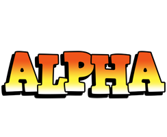 Alpha sunset logo