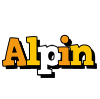 Alpin cartoon logo