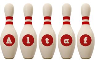 Altaf bowling-pin logo