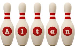 Altan bowling-pin logo