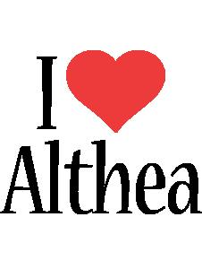 Althea i-love logo