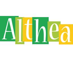Althea lemonade logo