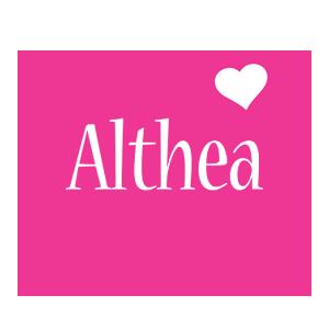 Althea love-heart logo