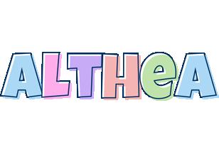 Althea pastel logo