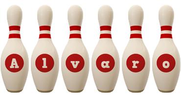 Alvaro bowling-pin logo