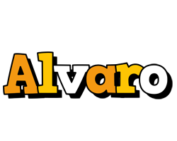 Alvaro cartoon logo