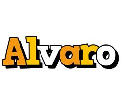 Alvaro cartoon logo