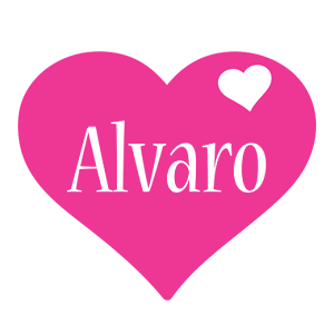 Alvaro love-heart logo