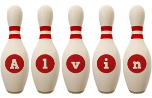 Alvin bowling-pin logo