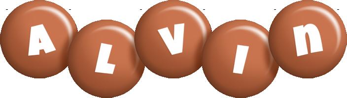 Alvin candy-brown logo