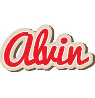 Alvin chocolate logo