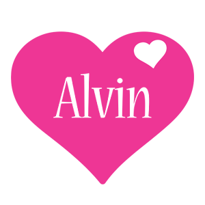 Alvin love-heart logo