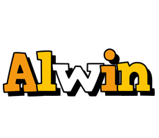 Alwin cartoon logo