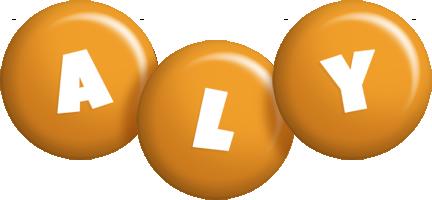 Aly candy-orange logo