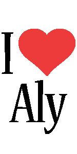 Aly i-love logo