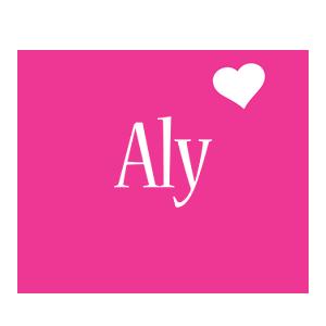 Aly love-heart logo