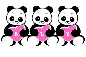 Aly love-panda logo
