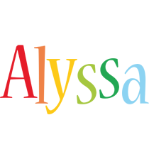 Alyssa birthday logo