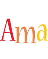 Ama birthday logo